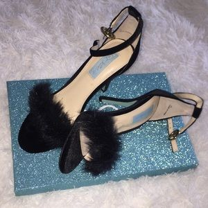 Betsey Johnson Nolte Velvet High Heels